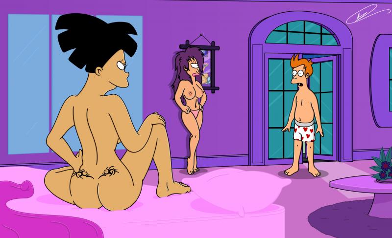 Leela and amy from futurama nude porn clips
